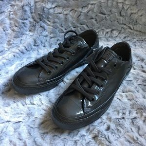 Converse Patent leather gray shoes size 7.5